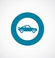 sport car icon bold blue circle border vector image