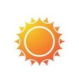 Sun silhouette vector image vector image