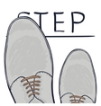 The business concept take the next step Feet on vector image vector image