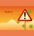 travel warning vector image