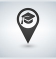 university location icon drop shadow map pointer vector image
