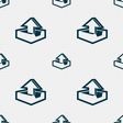 Upload icon sign Seamless pattern with geometric vector image vector image