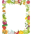Vegetables square frame with place for text Flat vector image