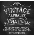 Vintage chalk alphabetical set vector image vector image