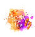 watercolor imitation splash blot with vector image vector image