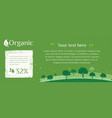 web banner of clean green environment vector image vector image