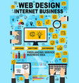 web design internet business poster vector image vector image
