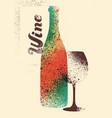wine list typographical vintage grunge poster vector image