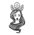 with beautiful girl Dryad Mythical vector image vector image