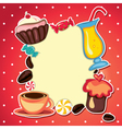 sweets card vector image