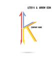 Creative letter K icon logo design vector image
