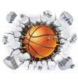 Basketball and Old Plaster wall damage