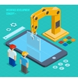 3d isometric user interface development vector image vector image