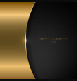 abstract template gold metallic curve on black vector image vector image