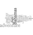 adventure in bahamas travel and tours vector image vector image