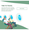 airplane passenger inside cabin wear headphone vector image