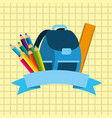 back to school image vector image vector image