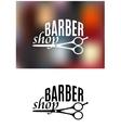 Barber shop sign design vector image