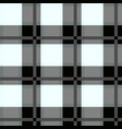 black and white tartan seamless pattern vector image vector image