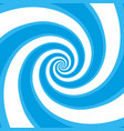 blue hypnotic spiral vector image