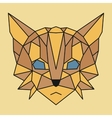 Brown and yellow low poly cat vector image vector image