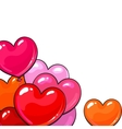 Bunches of bright and colorful glossy heart shaped vector image vector image