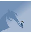 businessman superhero successful business startup vector image