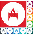 camping brazier icon vector image