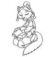 cartoon cat in fantasy beautiful dress vector image