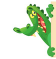 cartoon crocodile or alligator vector image