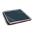 cartoon image of tablet computer with blank screen vector image