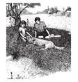 childhood vintage vector image vector image