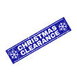 christmas clearance scratched rectangle stamp seal vector image vector image