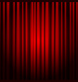 closed red theater curtain background for banner vector image vector image