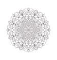 coloring page circle mandala vector image