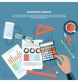 Corporate finance business management concept vector image