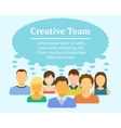 Creative Team Concept vector image