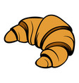 croissant icon cartoon vector image vector image