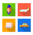 design of airport and airplane logo vector image vector image
