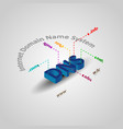 dns 3d isometric vector image