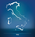 Doodle Map of Italy vector image