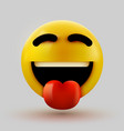 emoji 3d smiling face with stuck-out tongue vector image