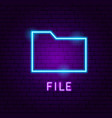 file neon label vector image vector image