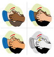 first aid person opening mouth clearing airway vector image vector image