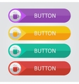 flat buttons with cup icon vector image vector image