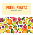 fruits seamless border vector image vector image