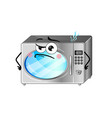 funny microwave oven isolated cartoon character vector image vector image