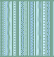 geometric seamless pattern green and blue winter vector image vector image
