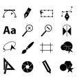 Graphic design icons set vector image vector image