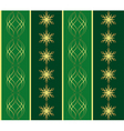 green pattern with snowflakes vector image